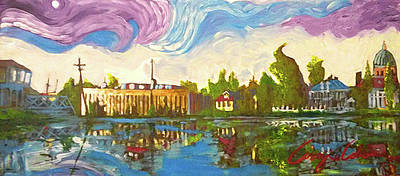 Painting - Bayou Saint John One by Amzie Adams