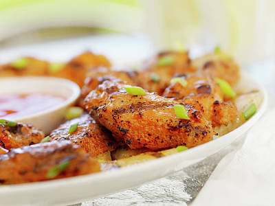 Pub Photograph - Bbq Chicken Wings by Lauripatterson