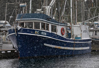 Photograph - Bc Sun In The Snow by Randy Hall