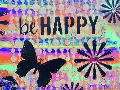 Painting - Be Happy by Jacqueline Athmann