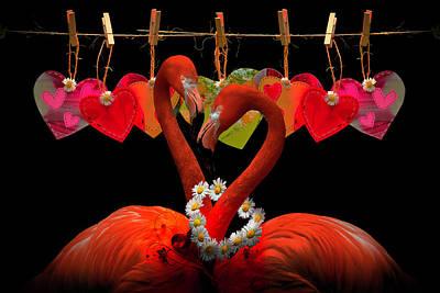 Digital Art - Be My Valentine  by Debra and Dave Vanderlaan