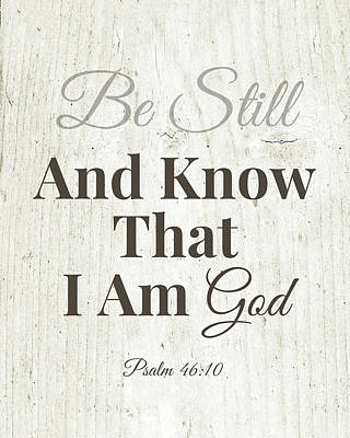 Mixed Media - Be Still And Know That I Am God- Art By Linda Woods by Linda Woods