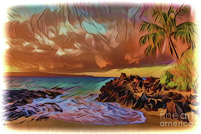 Painting - Beach A18-125 by Ray Shrewsberry