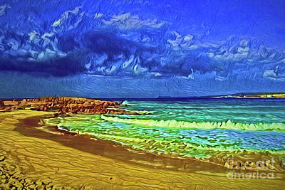 Painting - Beach A18-54 by Ray Shrewsberry