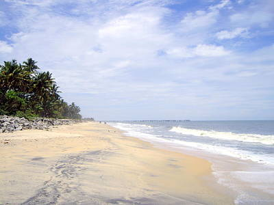 Kerala Photograph - Beach, Alleppey, Kerala by Chris Ilsley