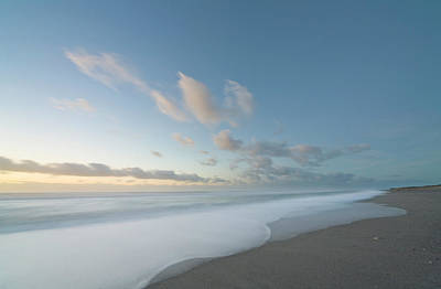 Photograph - Beach And Surf In Evening,  New Zealand by Eastcott Momatiuk