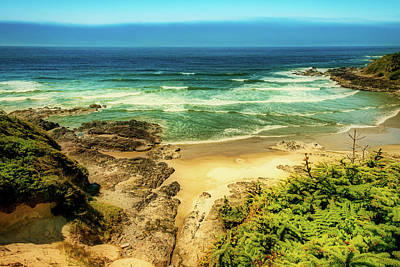 Photograph - Beach At Cape Perpetua Oregon by Stuart Litoff