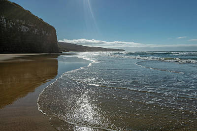Photograph - Beach At Cathedral Caves New Zealand by Joan Carroll