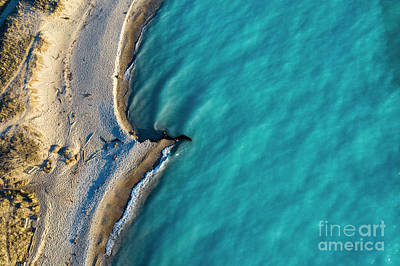 Royalty-Free and Rights-Managed Images - Beach at Point Betsie Aerial by Twenty Two North Photography
