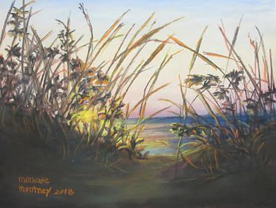 Pastel - Beach At Sunrise by Monique Montney