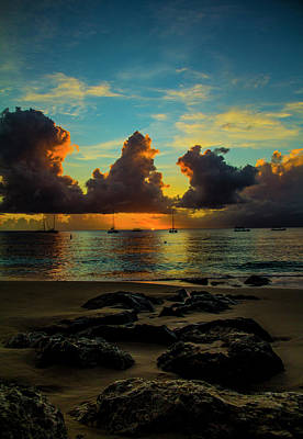 Photograph - Beach At Sunset 2 by Stuart Manning