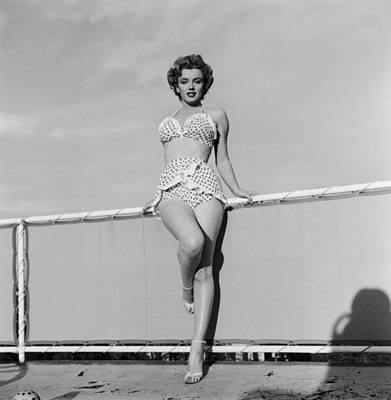 Photograph - Beach Belle by Hulton Archive