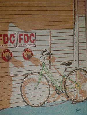 Drawing - Beach Bike by Lynne Renzenberger