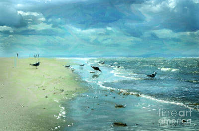 Digital Art - Beach Blues IIi by Chris Armytage