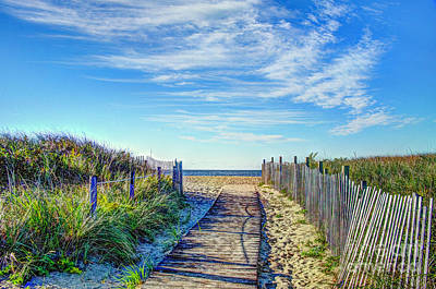 Photograph - Beach Boardwalk On Cape Cod by Jean Hutchison