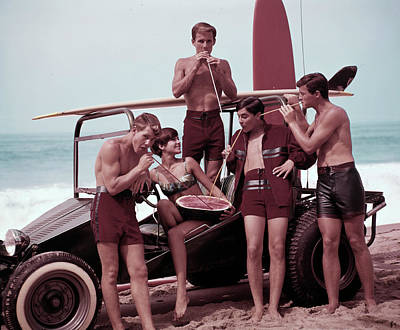 Photograph - Beach Buggy Buddies by Tom Kelley Archive