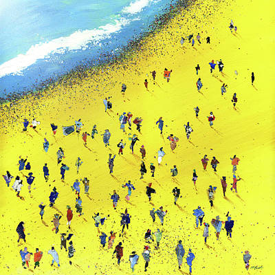 Wall Art - Painting - Beach Bums by Neil McBride