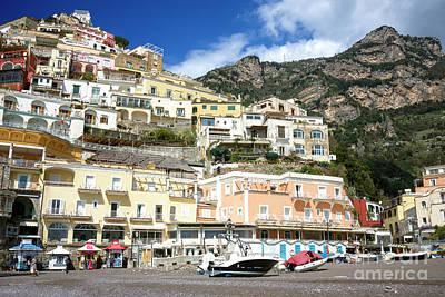 Photograph - Beach Colors In Positano by John Rizzuto