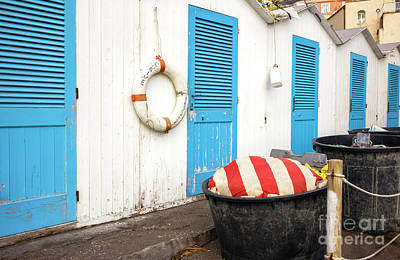 Photograph - Beach Doors In Positano by John Rizzuto