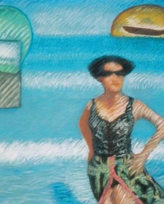 Wall Art - Pastel - Beach Erosion by Elaine Marie