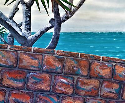 Sea Wall Art - Painting - Beach Fence by Joan Stratton