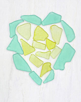 Photograph - Beach Glass Heart Art by Kathi Mirto