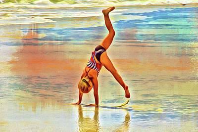 Photograph - Beach Gymnastics by Alice Gipson