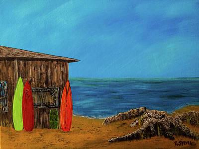 Painting - Beach House by Randy Sylvia
