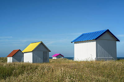 Photograph - Beach Huts by Arterra Picture Library
