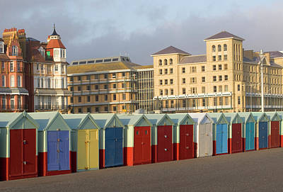 Beach Huts In Brighton Art Print by Martin Richardson/a.collectionrf