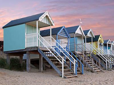 Photograph - Beach Huts Sunset by Gill Billington