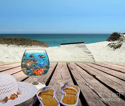 Digital Art - Beach Life  by Kathy Kelly