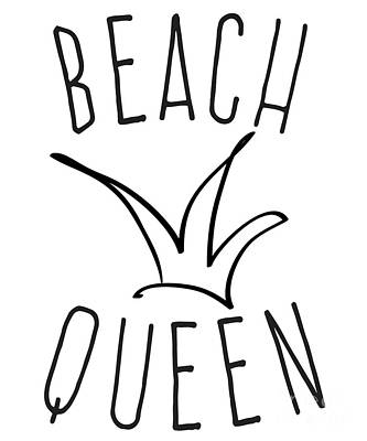 Digital Art - Beach Queen by Flippin Sweet Gear