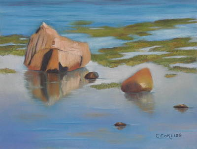 Pastel - Beach Reflections by Carol Corliss