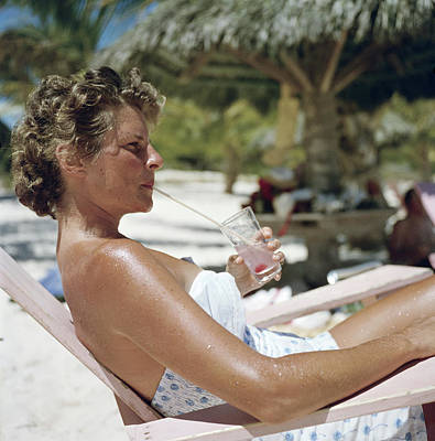 Photograph - Beach Refreshment by Slim Aarons