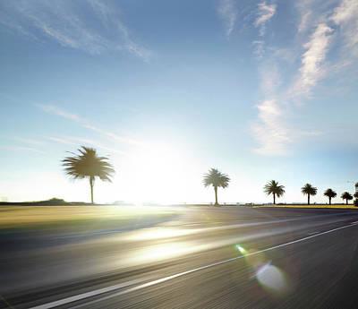 Photograph - Beach Road Sun Set by Aaron Foster
