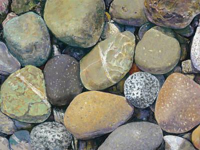 Painting - Beach Rocks by Nick Payne