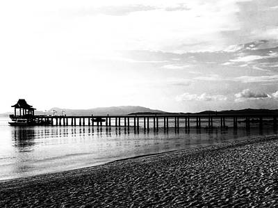 Photograph - Beach Scene Thailand In Mono by Georgia Fowler