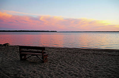 Farm House Style - Beach Sunset by Debbie Oppermann