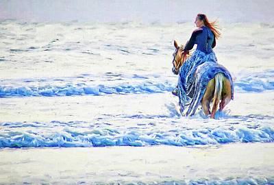 Photograph - Beach Surf Horse by Alice Gipson