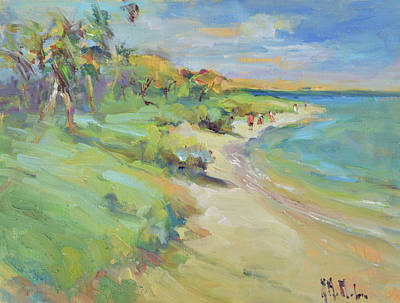 Wall Art - Painting - Beach Walkers by Kathryn McMahon