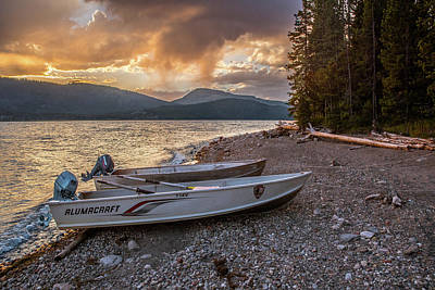 Photograph - Beached Park Service Boats by Matthew Irvin