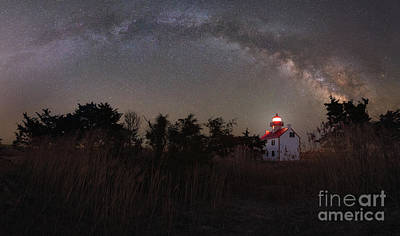 Photograph - Beacon Of Light Under The Stars by Michael Ver Sprill