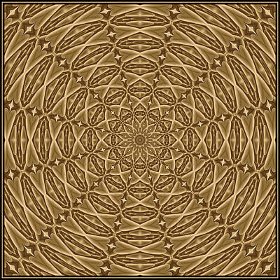 Digital Art - Beaed Treasure Sepia Tile K12-4s by Doug Morgan