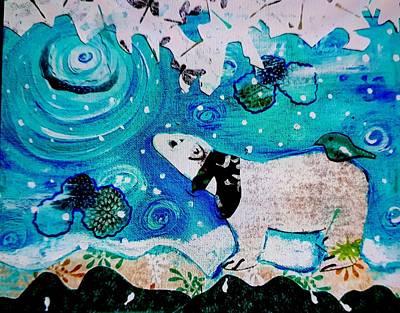 Painting - Bear And Moon by Nikki Dalton