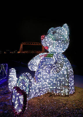 Photograph - Bear At The Duluth Lift Bridge by Susan Rissi Tregoning