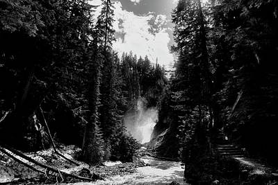 Photograph - Bear Creek Pathway In Black And White by Monte Arnold