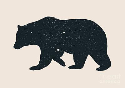 Digital Art - Bear by Florent Bodart