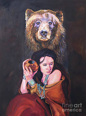 Painting - Bear Medicine by J W Baker