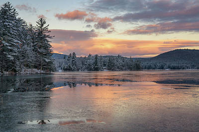Photograph - Bear Pond Transitions To Winter by Darylann Leonard Photography